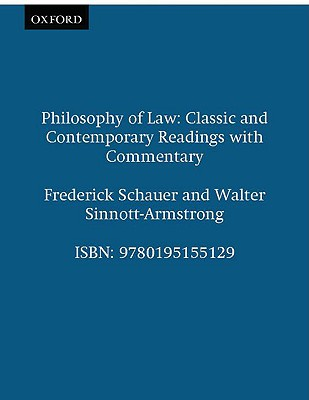 Philosophy of Law By Schauer, Fredrick